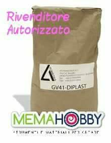 1 Sacco 25 kg. DIPLAST GV41 Gesso professionale Resina Naturale