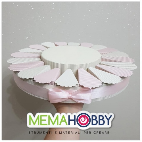 TORTA ROSA E PANNA MIX 20 FETTE + 1 BASE TOPPER copia copia